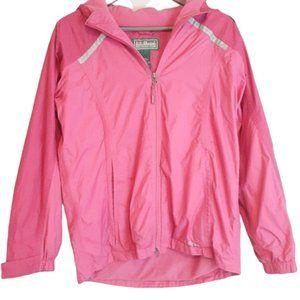 LLbean Hot Pink Raincoat Fleece Lined 14-16